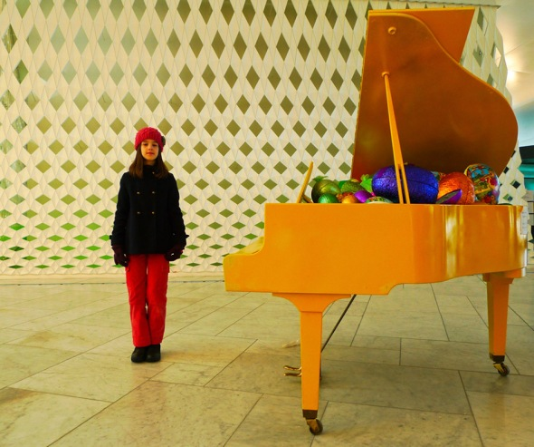 yellow easter piano